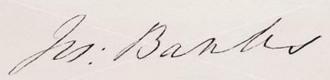 Joseph Banks signature