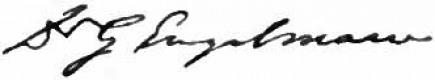 George Engelmann signature