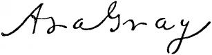Asa Gray signature