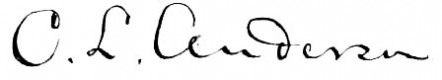 Charles Lewis Anderson signature