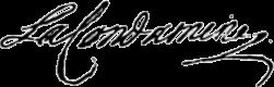Charles Marie de La Condamine signature