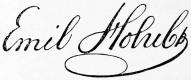 Emil Holub signature