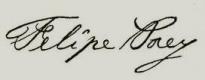 Felipe Poey signature