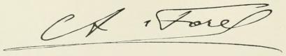 Auguste Forel signature