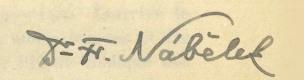 František Nábělek signature