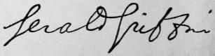 Gerald Griffin signature