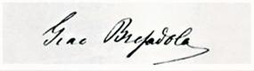 Giacomo Bresadola signature