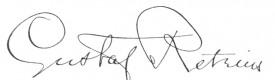 Gustaf Retzius signature