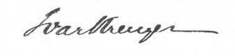 Ivar Kreuger signature