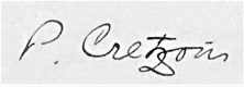 Paul Cretzoiu signature