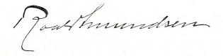 Roald Amundsen signature