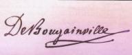 Louis-Antoine de Bougainville signature