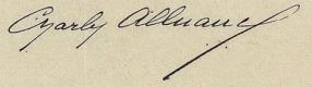 Charles A. Alluaud signature