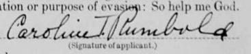 Caroline Thomas Rumbold signature