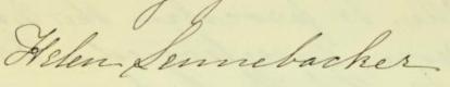 Helen Lennebacker signature