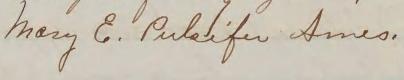 Mary E. Pulsifer Ames signature