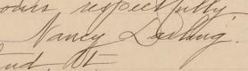 Nancy Darling signature
