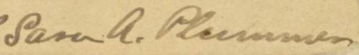 Sara Plummer Lemmon signature
